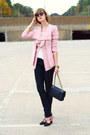 Black-snakeskin-h-m-jeans-light-pink-ruffled-romwe-blazer