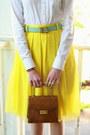 Button-down-ann-taylor-shirt-brown-structured-vintage-bag-c-wonder-belt