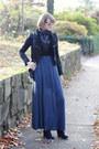 Black-ankle-boots-h-m-boots-blue-maxi-dress-jw-anderson-dress