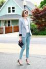 Aquamarine-skinny-jeans-zara-jeans-silver-sparkle-zara-blazer