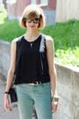 Aquamarine-skinny-jeans-zara-jeans-black-mini-sophie-hulme-bag