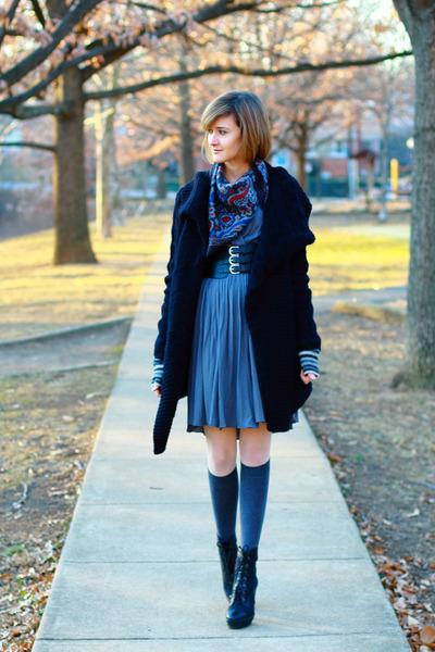 black Pour La Victoire boots - gray jersey Development dress