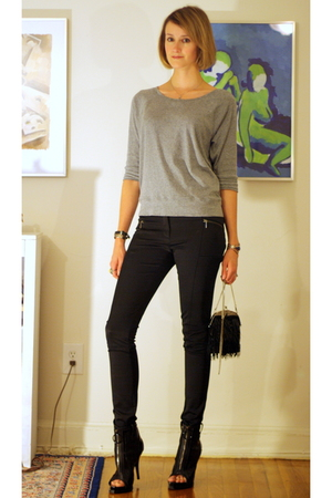 Gap top - H&amp;M pants - Zara purse - vintage necklace - Givenchy boots - vintage b