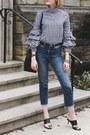 Blue-cropped-topshop-jeans-black-bucket-bag-mansur-gavriel-bag