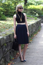 Black-pumps-theyskens-theory-shoes-navy-pleated-vintage-skirt