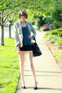 Blue-loomstate-top-silver-sparkly-zara-blazer-black-shoulder-bag-boyy-bag