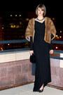 Camel-woodward-lothrop-scarf-black-rick-owens-lilies-dress-black-givenchy-
