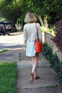 Carrot-orange-tote-romwe-bag-ivory-stripe-swing-asos-dress