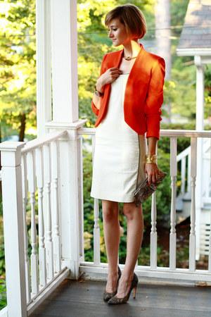 tan pumps PROENZA SCHOULER heels - white fitted ADAM dress