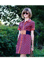 Red-kate-hill-dress-blue-vintage-belt-gold-topshop-bracelet-gold-hermes-br