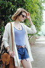 White-cardigan-loft-sweater-brown-shoulder-bag-saddleback-leather-bag