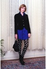 Blue-sunner-dress-black-express-tights-black-balenciaga-boots-black-kmrii-
