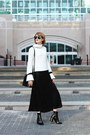 Black-ankle-boots-mango-boots-white-bell-sleeve-genuine-people-sweater