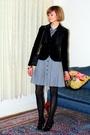 Black-report-signature-shoes-black-hermes-bracelet-gray-francis-dress-blac