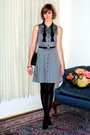Black-report-signature-shoes-black-hermes-bracelet-gray-francis-dress-blac