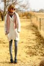 Ivory-gap-sweater-gray-h-m-leggings-black-jeffrey-campbell-clogs-ruby-red-
