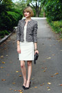 Black-boucle-zipper-banana-republic-blazer-white-bodycon-adam-dress