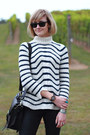 Ivory-stripes-zara-sweater-black-ankle-boots-h-m-boots