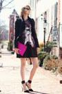 Deep-purple-psychedelic-yoana-baraschi-dress-hot-pink-clutch-asos-bag