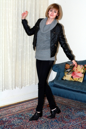 black H&M jacket - black jonathan saunders for target leggings - black vintage s