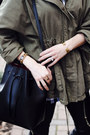 Olive-green-anorak-topshop-jacket-white-buffalo-plaid-boohoo-shirt
