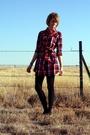 Red-forever-21-dress-blue-american-apparel-tights-black-vintage-bracelet-b