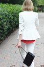 White-cropped-flare-h-m-jeans-white-blazer-zara-jacket