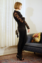 Forever 21 top - H&M pants - Christopher Kane for Topshop purse - Givenchy boots