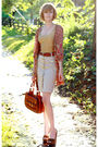 Red-missoni-cardigan-gold-vintage-top-beige-h-m-skirt-brown-urban-outfitte