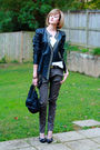 Black-surface-to-air-jacket-green-mango-pants-black-givenchy-shoes-white-t