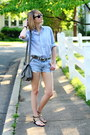 Sky-blue-j-press-shirt-sky-blue-express-shorts