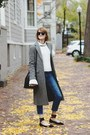 Heather-gray-long-coat-french-connection-coat-blue-high-waisted-topshop-jeans