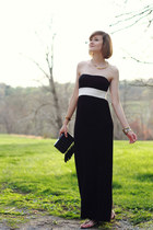 black maxi dress iisli dress - black clutch fringe Topshop bag