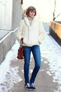 Ivory-fur-vintage-coat-blue-skinny-jeans-textile-elizabeth-and-james-jeans