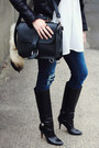 Black-knee-high-boots-karen-walker-boots-navy-distressed-dl1961-jeans