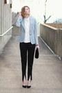 Silver-sparkly-zara-blazer-black-velvet-vintage-bag-black-satin-asos-pants