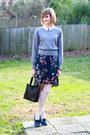 Navy-floral-vintage-skirt