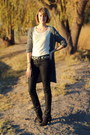 Black-concho-belt-vintage-belt-black-suede-ankle-zara-boots