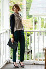 Navy-ralph-lauren-bag-forest-green-tailored-zara-pants