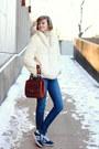 Ivory-fur-vintage-coat-blue-skinny-jeans-textile-elizabeth-and-james-jeans