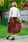 Brown-vintage-skirt-brown-miu-miu-shoes-gold-topshop-bracelet-gold-hermes-