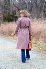 Amethyst-vintage-coat-blue-flared-j-brand-jeans