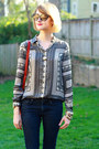 Silver-scarf-print-zara-blouse-navy-skinny-jeans-h-m-jeans