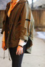 Red-ankle-boots-zara-boots-olive-green-anorak-topshop-coat
