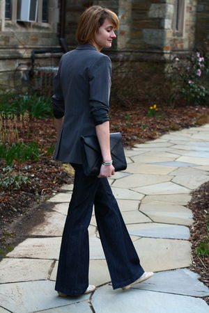 gray Express blazer - blue Seven For All Mankind jeans - silver zuni bracelet -