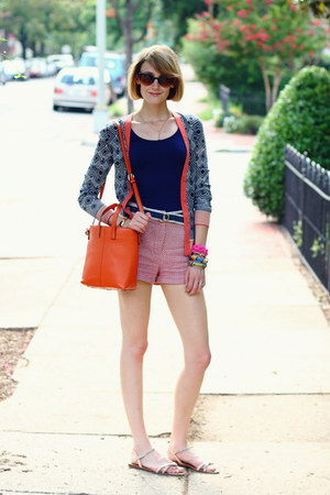 carrot orange tote romwe bag - salmon woven Cooperative shorts