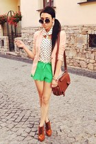 green H&M shorts