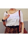 White-wwwuniversalpixelse-t-shirt-dark-brown-wwwoasapcom-skirt