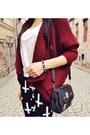 Maroon-bershka-sweater