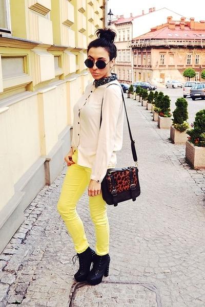 yellow wwwmojejeansypl pants